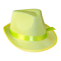 Yellow Neon Gangster Hat