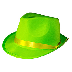Green Neon Gangster Hat