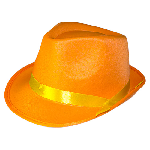 Neon Gangster Hat Orange