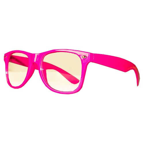 Side Of Neon Glasses Hot Pink
