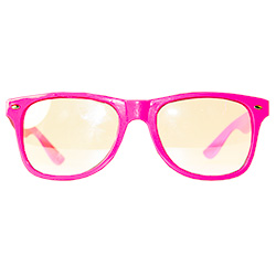 Front Of Neon Glasses Hot Pink