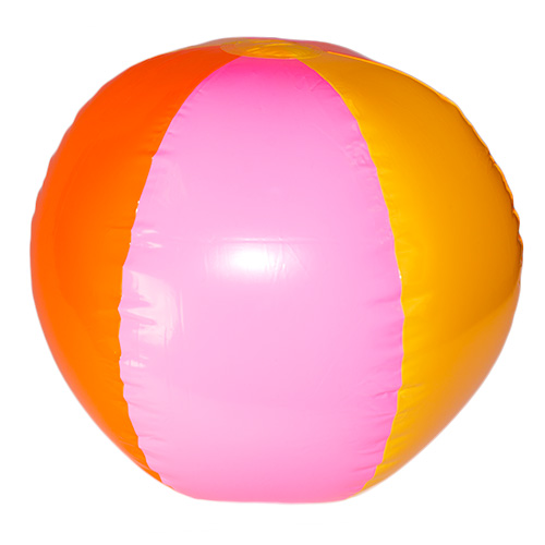 Orange, pink and yellow beach ball