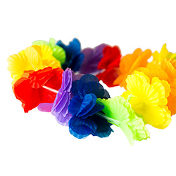 Close Image Of Flowery Lei