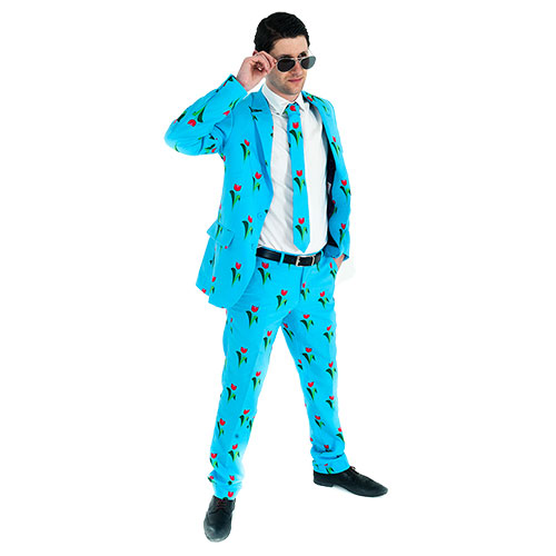 Tulip patterned suit