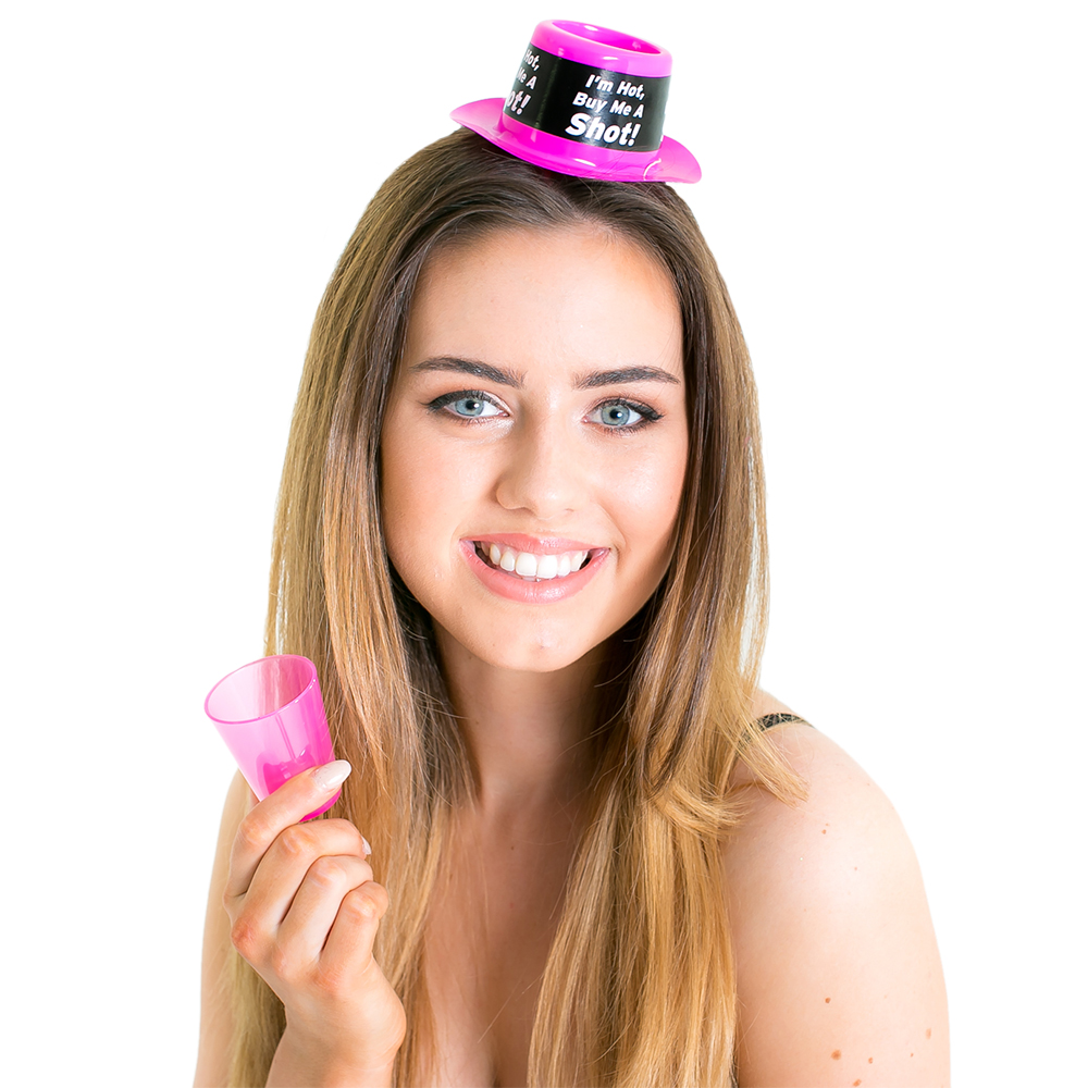 Shot Glass Party Hat On White Background