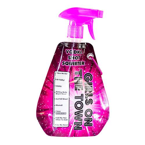 A bright pink vodka squirter