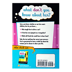 Do You Know Your Bride? Back cover