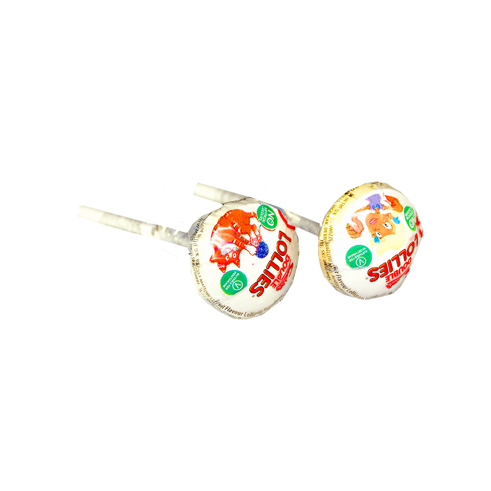 Double Lollies on a white background