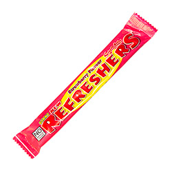 Refreshers Stawberry Chewbar in a pink wrapper