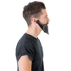 Inflatable beard from the side