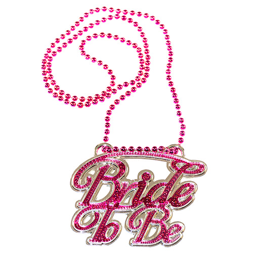 Metallic pink and silver Bride To Be necklace