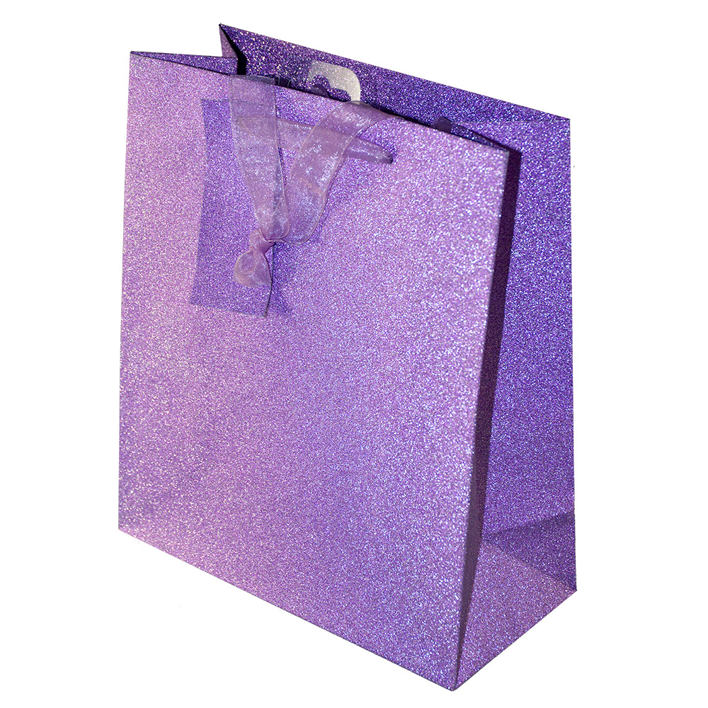 Lilac Glitter Gift Bag