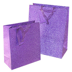 Lilac Glitter Gift Bag Two Sizes
