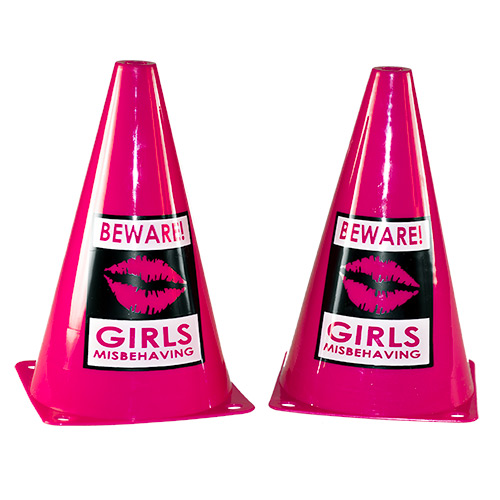 A set of two hen party cones