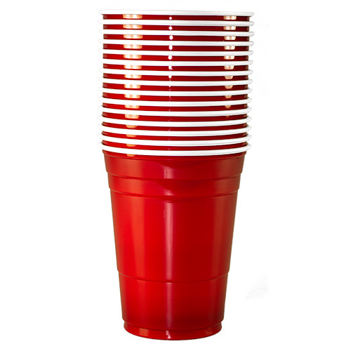 A Stack of fifteen American Red Cups