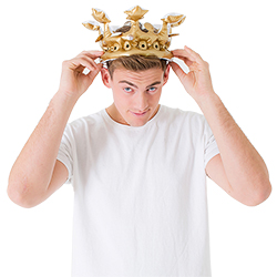 Fitting the crown on his head