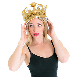 Model wearing Queen For The Day Inflatable Crown