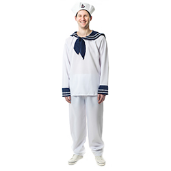 Front View Of Blue and White Sailor Costume
