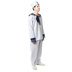 Side View Blue and White Sailor Costume side