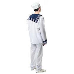 Back View Blue and White Sailor Costume back