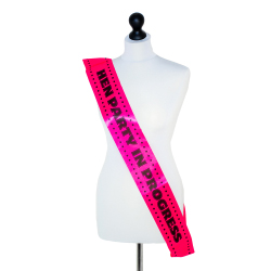 'Hen party in progress' sash