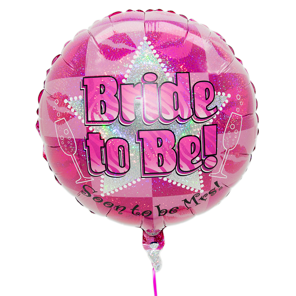 Pink and silver 'Bride-To-Be' balloon