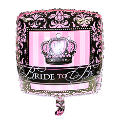 Pink and black 'Bride To Be' helium balloon