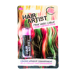 Pink hair crayon in packet