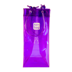 Purple Ice Bag with logo