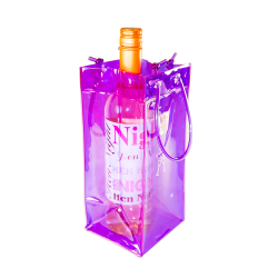 Purple Ice Bag with bottle of wine