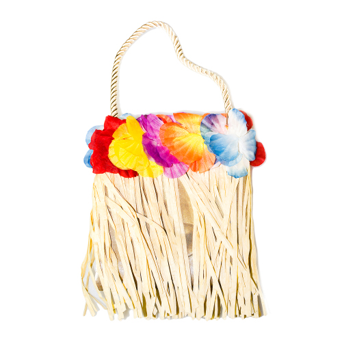 Hawaiian Hula Bag with Flowers