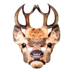 cardboard stag mask