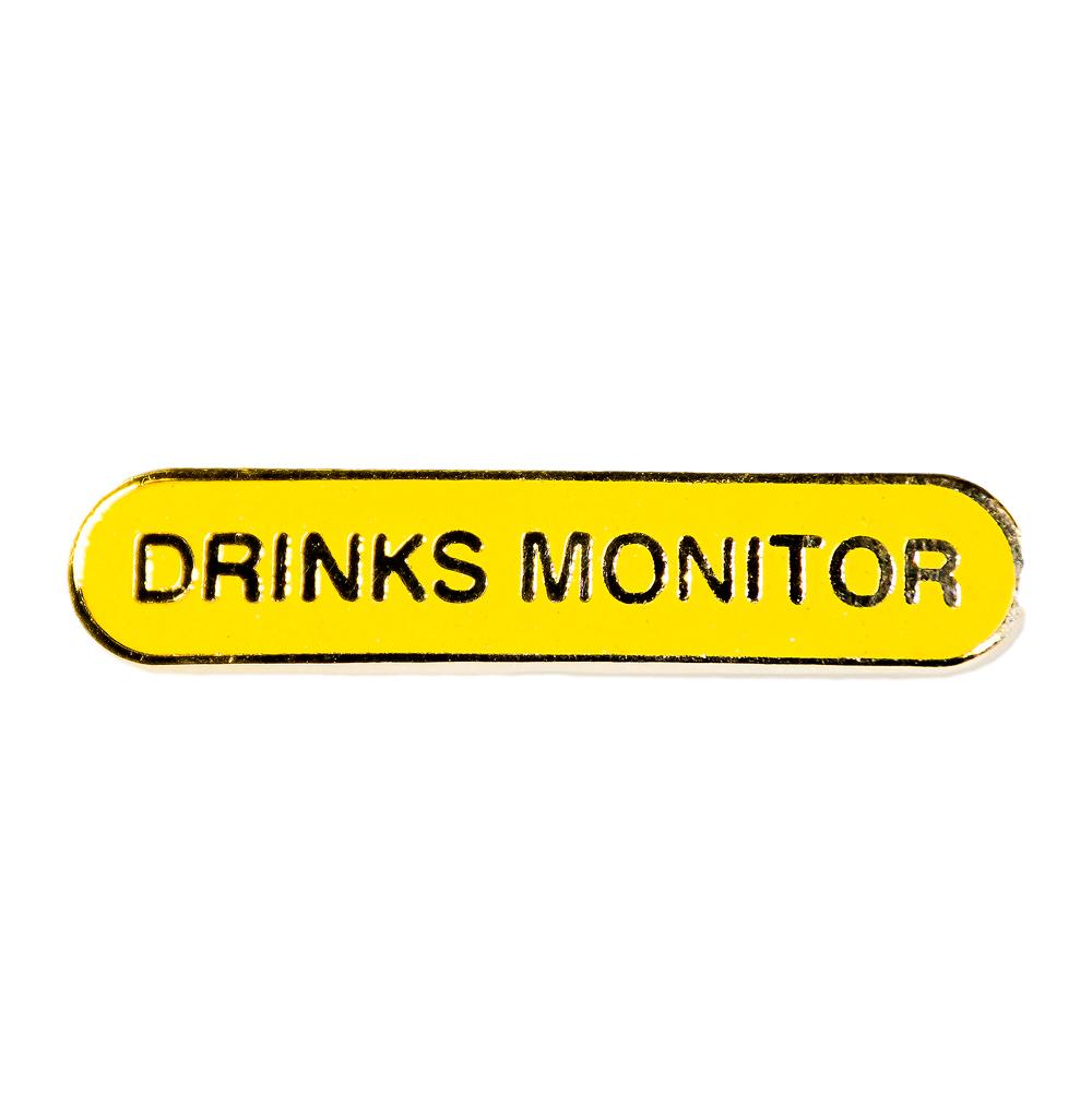 Yellow Drinks Monitor Badge