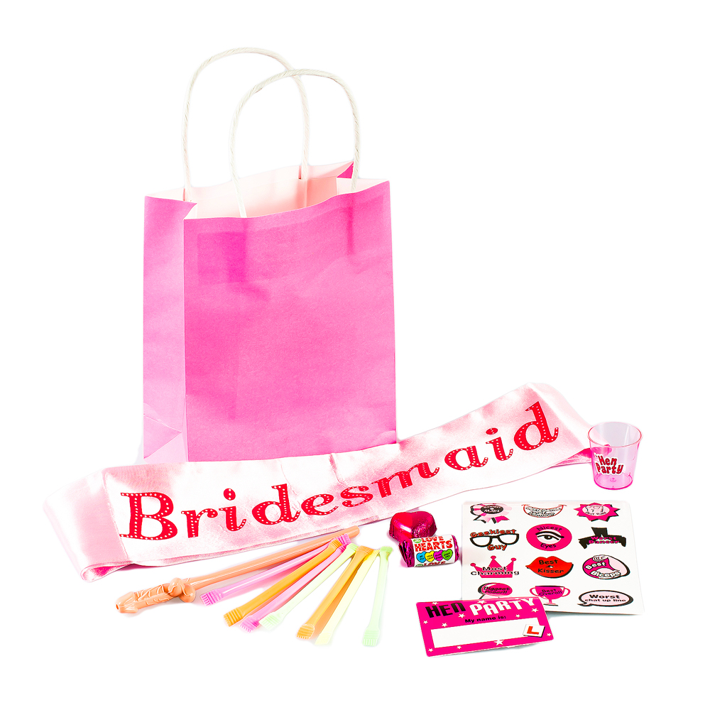 Bridesmaid party bag contents