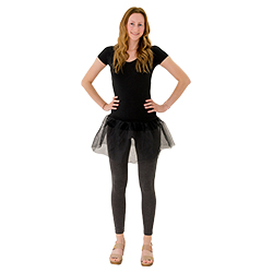 The black tutu is a great costume accessory.