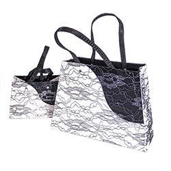 Large and small lace contrast bags