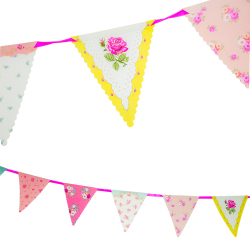Rose patterned bunting
