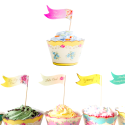 Canape flags in cupcakes