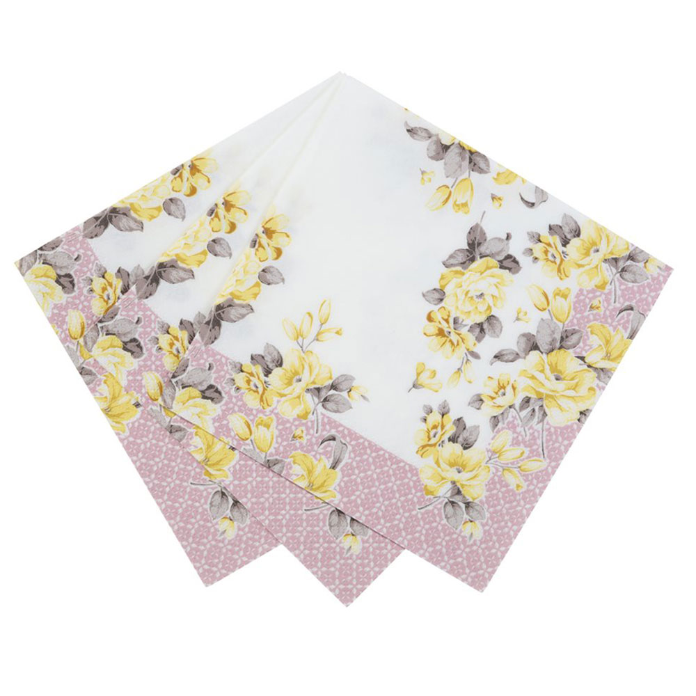 Pretty napkin paper swans