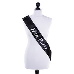 Beautiful black and silver design sash