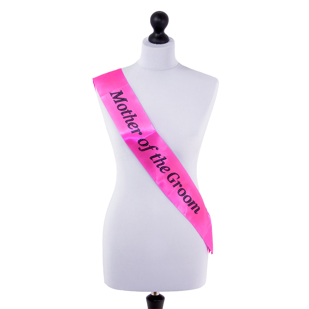 Neon pink Mother of the Groom sash