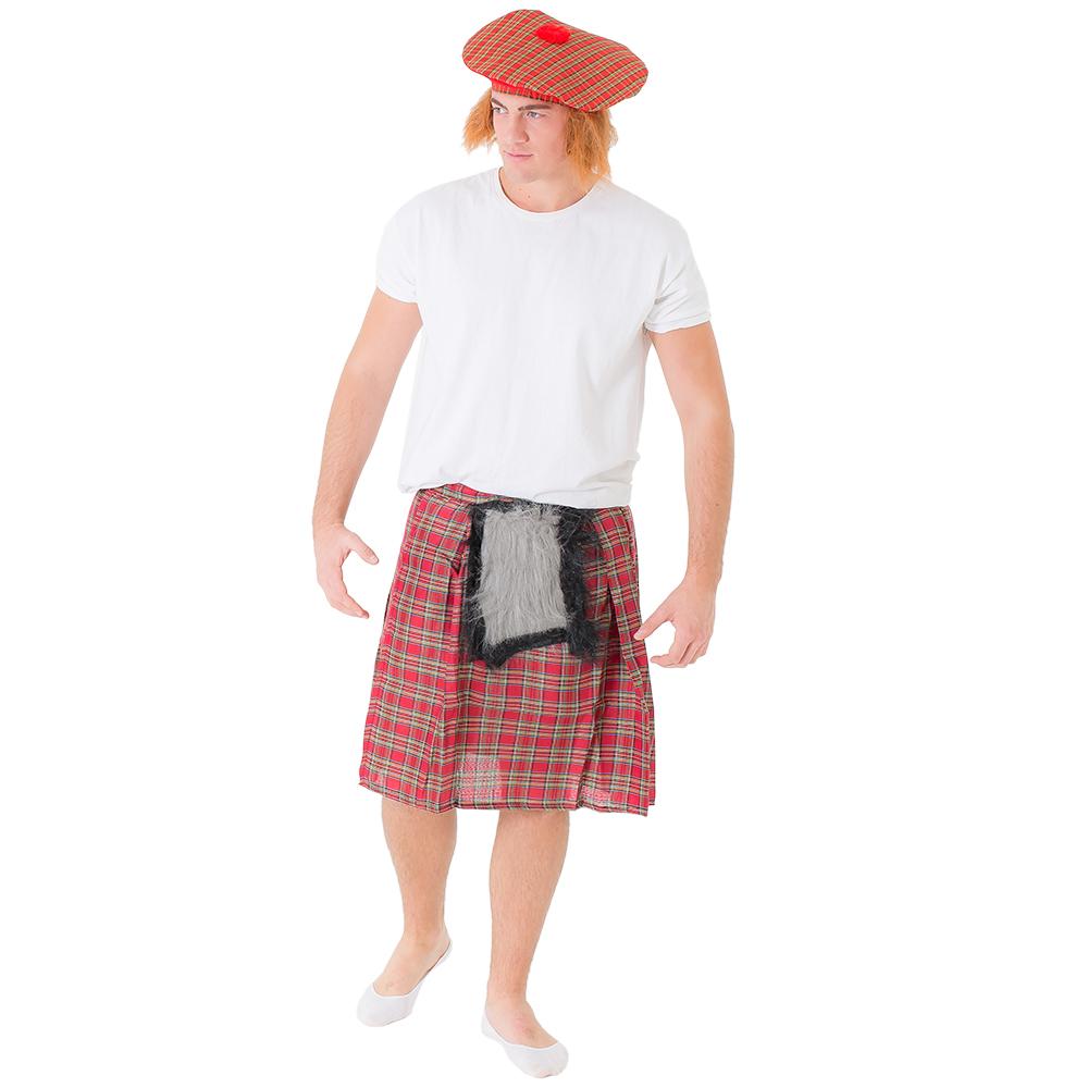 The tartan kilt modelled