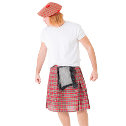 The sporan is attached to the front of the kilt