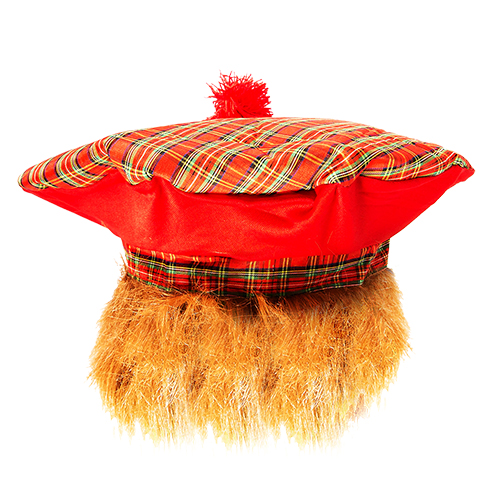 Tartan Jimmy Hat complete with ginger bob(ish)