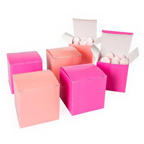 Treat boxes in various colours.