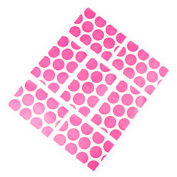 Pink polka dot favour bags