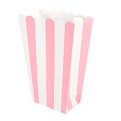 The pretty pink popcorn box
