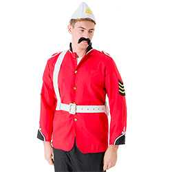 The costume looks great with a moustache