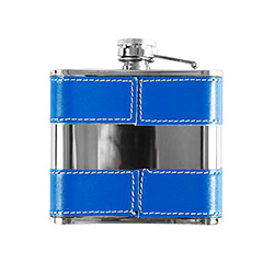 Fantastic blue hip flask