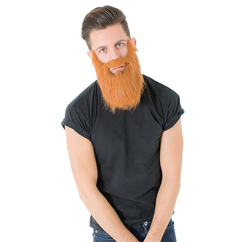 A model wearing the beard
